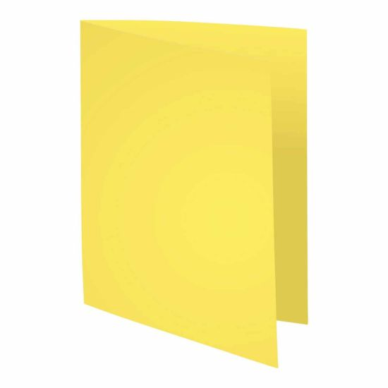 Exacompta Forever Square Cut Folders A4 220gsm Pack of 500 Yellow