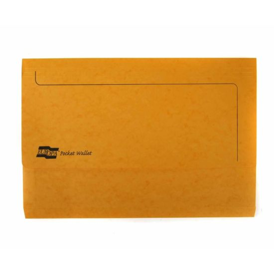 Europa Pocket Wallet Foolscap Yellow