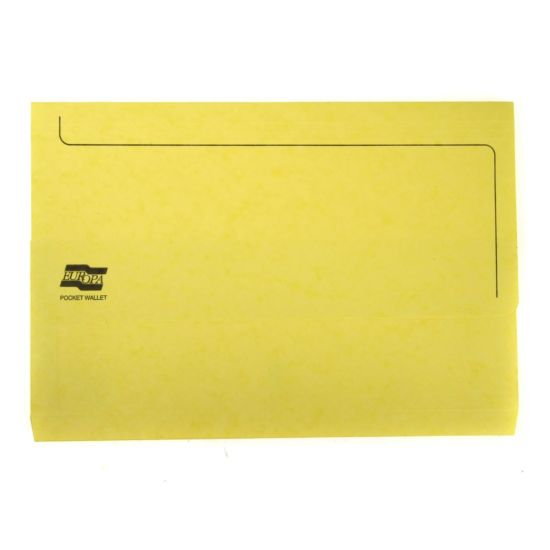 Europa Pocket Wallet Foolscap Lemon