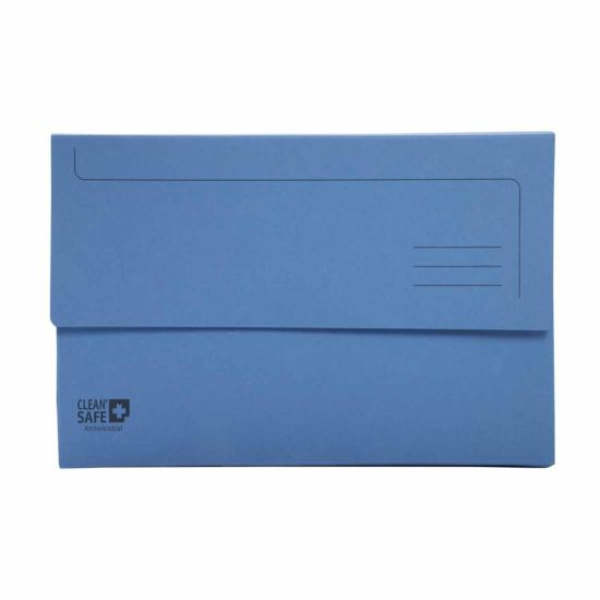 Exacompta Clean Safe Foolscap Document Wallets 400gsm Pack of 5