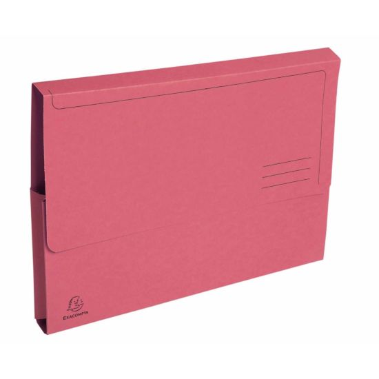 Exacompta Forever Document Wallets A4 2 Packs of 50 290gsm Pink