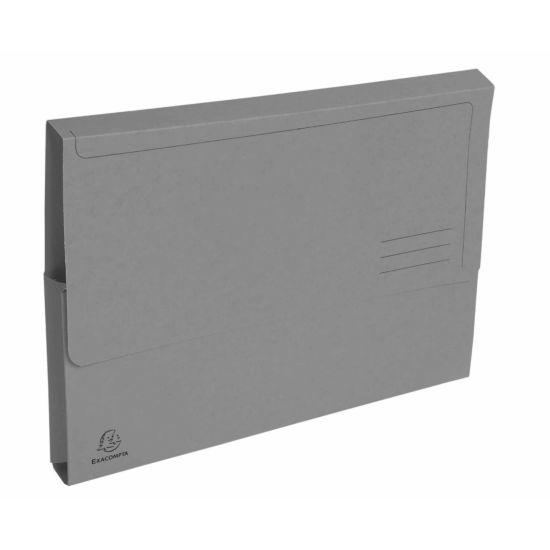 Exacompta Forever Document Wallets A4 2 Packs of 50 290gsm Grey