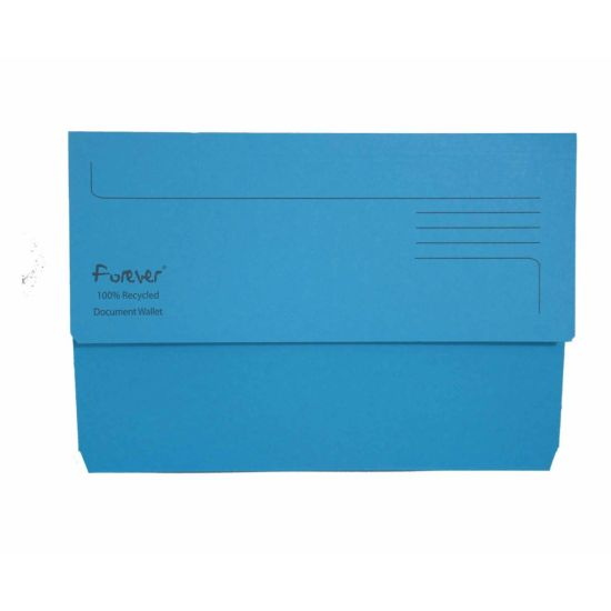 Exacompta Forever Document Wallet Foolscap Pack of 25 300gsm