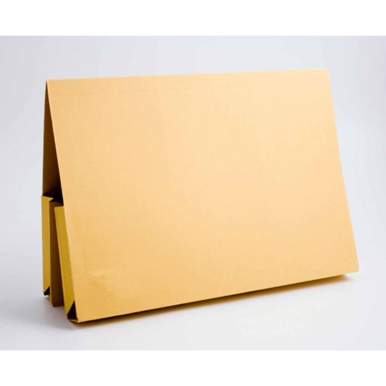 Exacompta Guildhall Double Legal Wallet Foolscap Pack of 25 315gsm Yellow