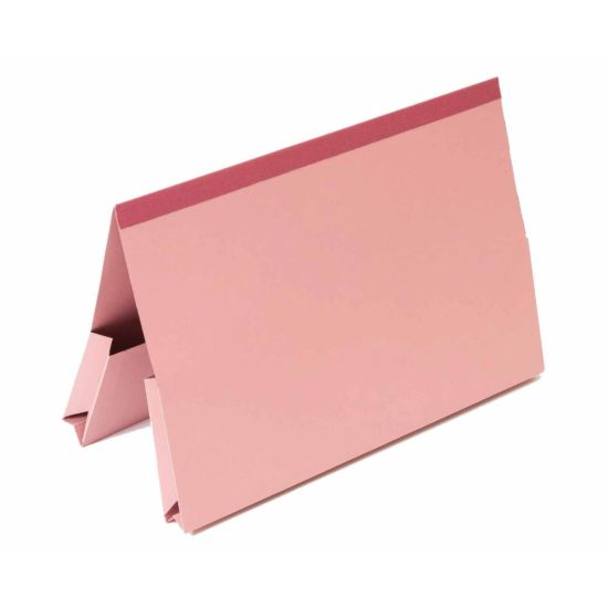 Exacompta Guildhall Reinforced Double Pocket Wallets Foolscap Pack of 25 315gsm Pink