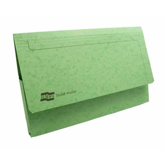 Exacompta Europa Document Wallet Foolscap Pack of 25 265gsm Lime