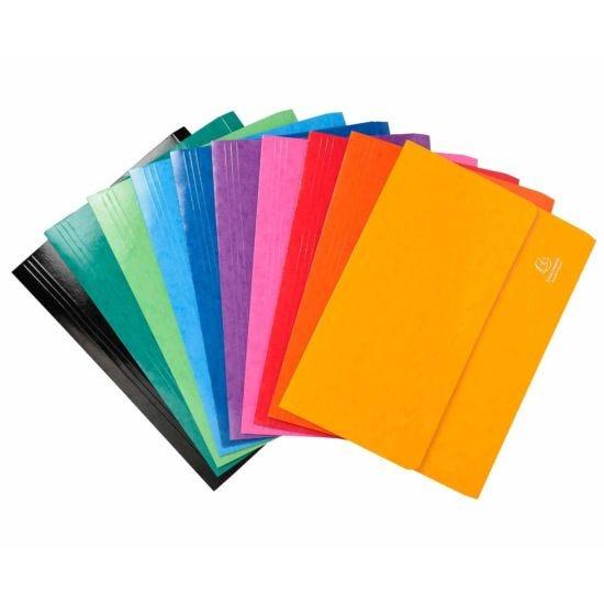Exacompta Iderama Document Wallet Foolscap Pack of 25 265gsm Assorted