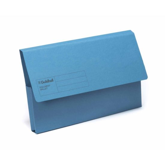 Exacompta Guildhall Document Wallet Foolscap Pack of 50 285gsm