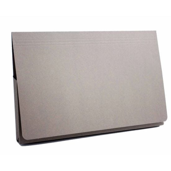 Exacompta Guildall Document Wallet Foolscap Pack of 50 315gsm Grey