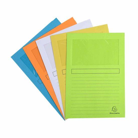 Exacompta Forever Window Pastel Folders Assorted 16 Packs of 25