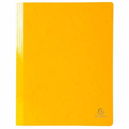 Exacompta Iderama Flat Bar Files Flat A4 Pack of 25 355gsm Yellow
