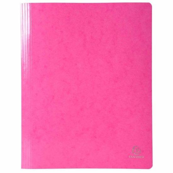 Exacompta Iderama Flat Bar Files Flat A4 Pack of 25 355gsm Pink
