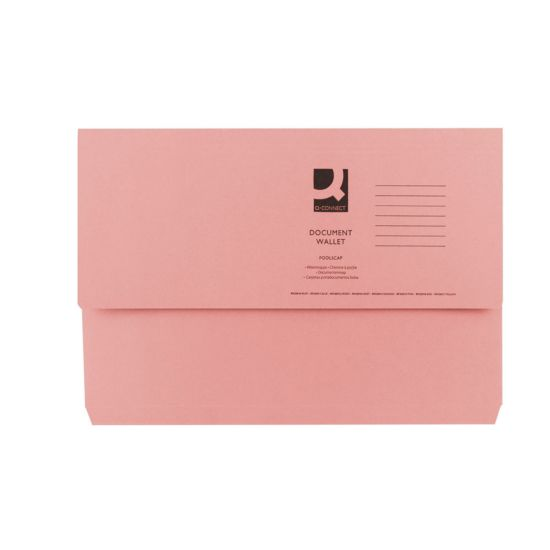Document Wallet 285gsm Foolscap Pack of 50 Pink