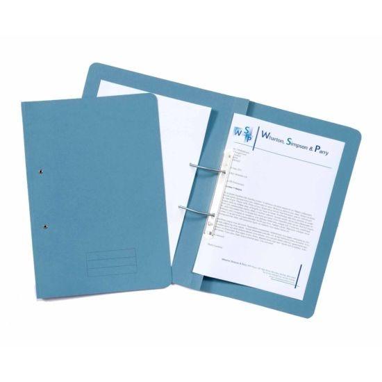Exacompta Guildhall Spiral File Foolscap Pack of 25 285gsm Blue