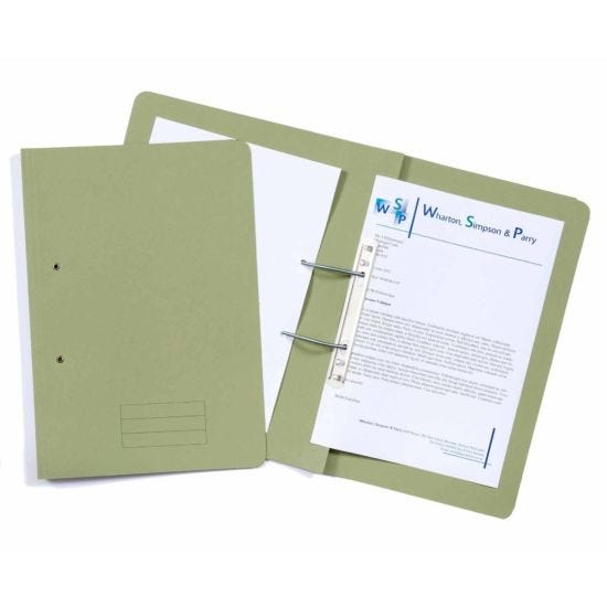 Exacompta Guildhall Spiral File Foolscap Pack of 25 285gsm Green