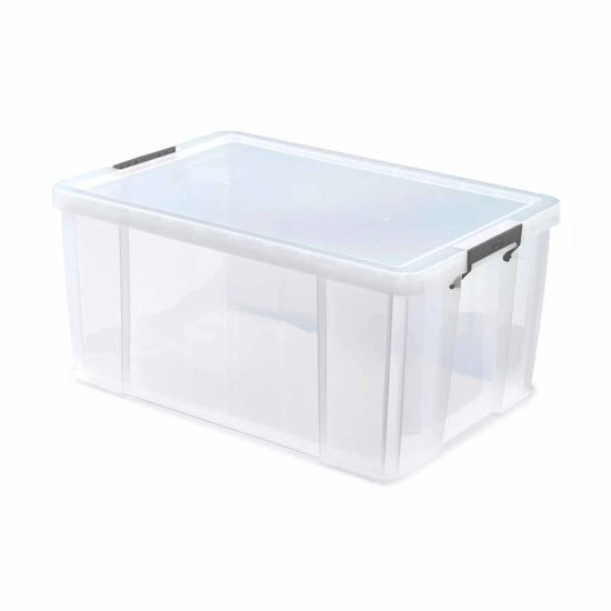 Whitefurze Allstore Plastic Storage Box 70 Litre