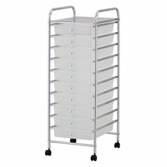 Ryman 10 Drawer Trolley 90cm White