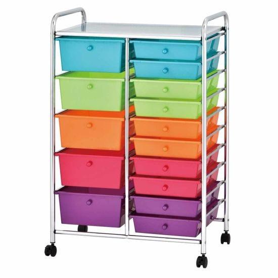Ryman 15 Drawer Trolley 98cm Multicoloured