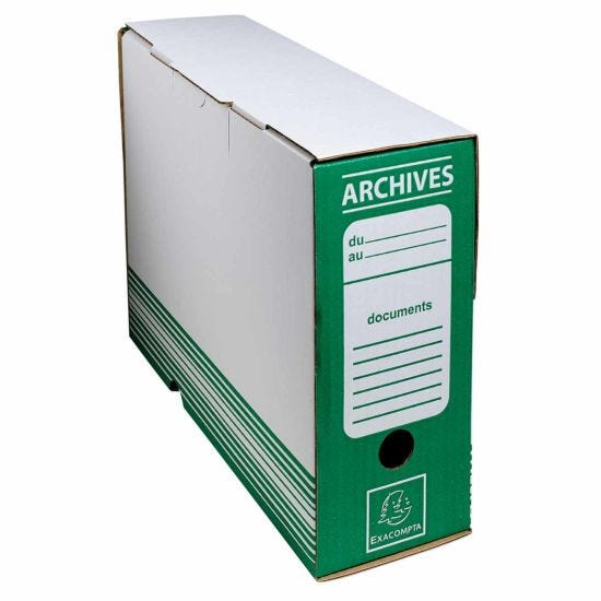 Exacompta Archive Box 100mm Spine Pack of 50 Green