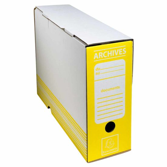 Exacompta Archive Box 100mm Spine Pack of 50 Yellow