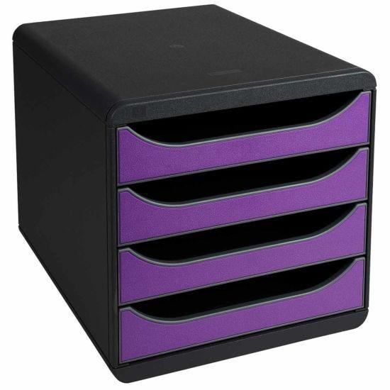 Exacompta BIG-BOX Iderama 4 Drawer Unit Purple
