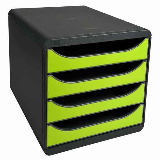 Exacompta BIG-BOX Iderama 4 Drawer Unit Lime Green