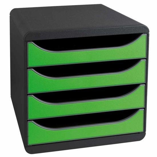 Exacompta BIG-BOX Iderama 4 Drawer Unit Apple Green