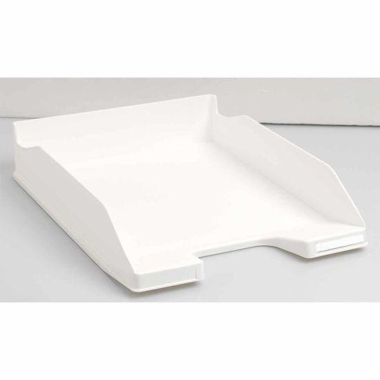 Exacompta Office Letter Tray Midi Combo Pack of 6 Matte White