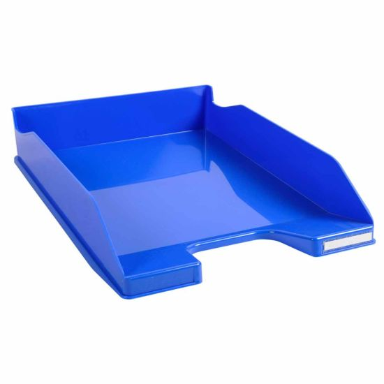Exacompta Office Letter Tray Midi Combo Pack of 6 Gloss Ice Blue