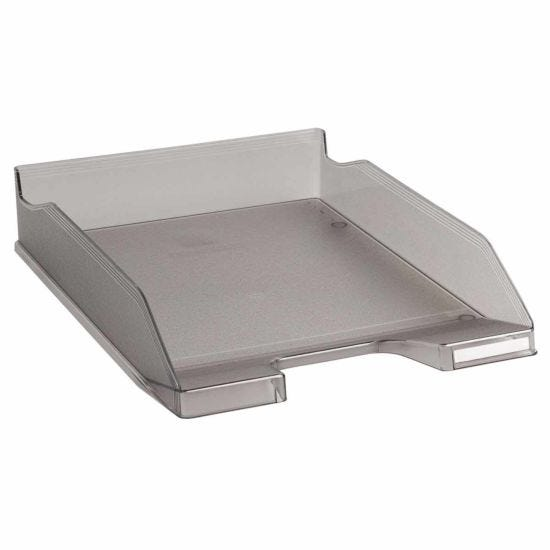 Exacompta Office Letter Tray Midi Combo Pack of 6 Translucent Matte grey