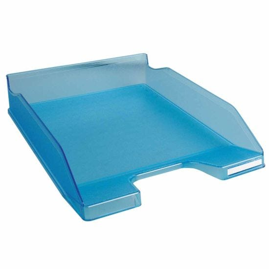 Exacompta Office Letter Tray Midi Combo Pack of 6 Translucent Matte turquoise