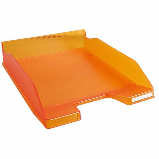 Exacompta Office Letter Tray Midi Combo Pack of 6 Translucent Matte Orange