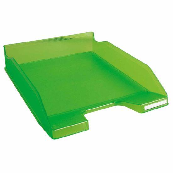 Exacompta Office Letter Tray Midi Combo Pack of 6 Translucent Matte apple green