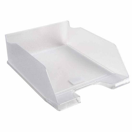 Exacompta Office Large Letter Tray Midi Combo Pack of 4 Clear Translucent Gloss