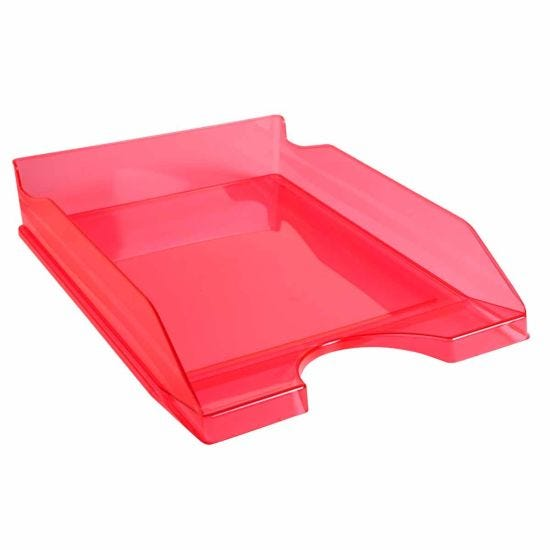 Exacompta Linicolor Eco Letter Tray Pack of 10 Raspberry