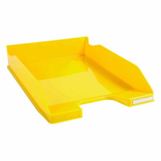 Exacompta Office Letter Tray Midi Combo Pack of 6 Gloss Yellow