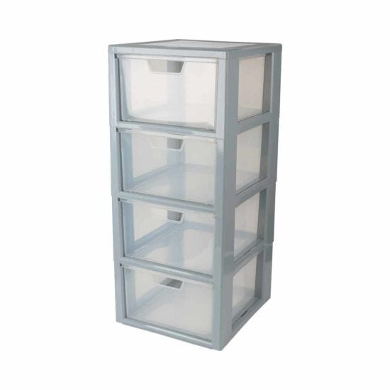 Tontarelli 4 Drawer Linea Modular Storage Unit with Drawer Organiser