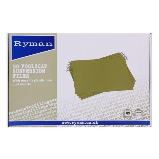 Ryman Suspension Files Foolscap Pack of 50