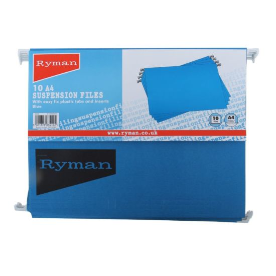 Ryman Suspension Files A4 Pack of 10 Blue