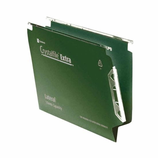 Rexel Crystalfile Extra 275 Lateral Suspension File 15mm Pack of 25