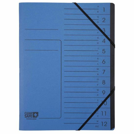 Exacompta Clean Safe Multipart Files 12 Parts