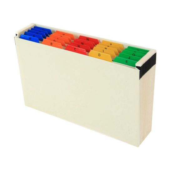 Ryman A to Z Expanding File Foolscap Coloured Tabs