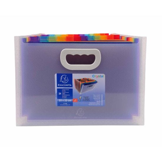 Exacompta Expanding File with Handles 24 Part 33x23.5 Pack of 4
