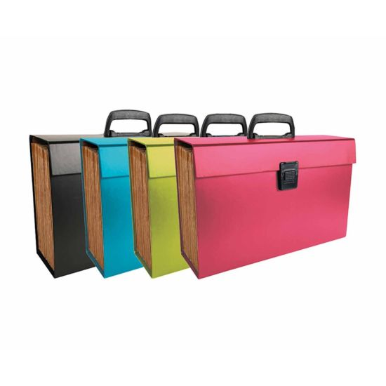 Exacompta Expanding Multi File Case 20 Part A4 Pack of 4 Assorted