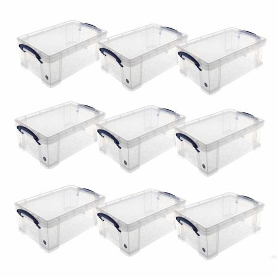Really Useful Box 9 Litre Pack of 9 Clear