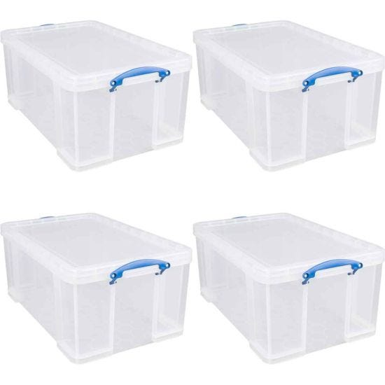 Really Useful Storage Box 64 Litre Pack of 4