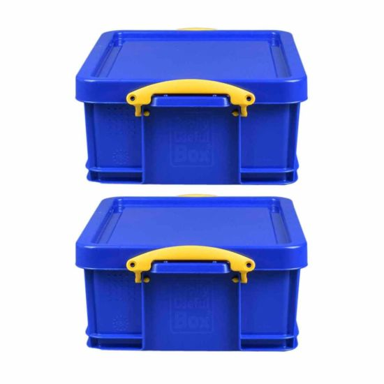 Really Useful Storage Box 18 Litre Pack of 2 Blue