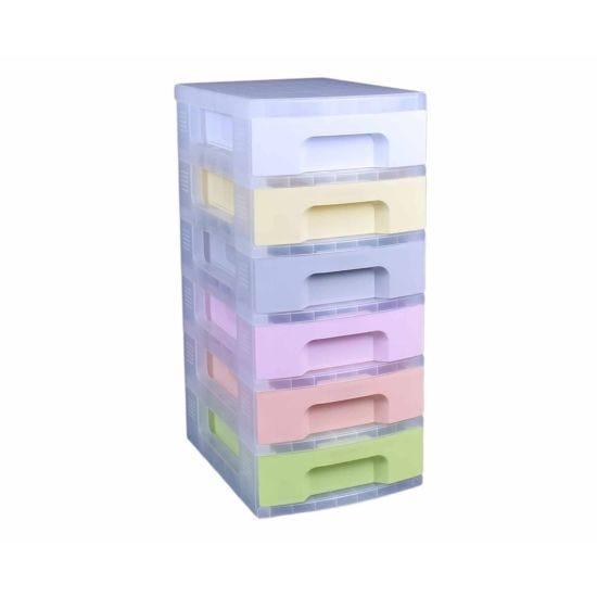Really Useful Storage Drawer Unit Pastel 6 x 7 Litre