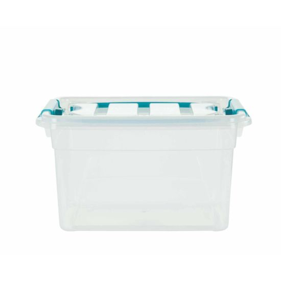Whitefurze Carry Box with Handles 13 Litre Clear