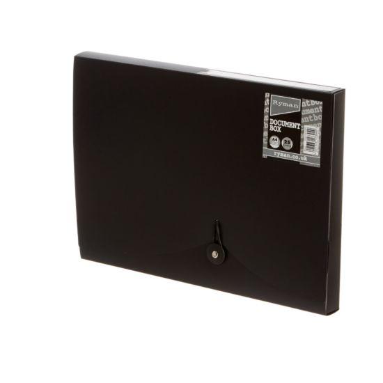 Ryman Document Box 25mm Black